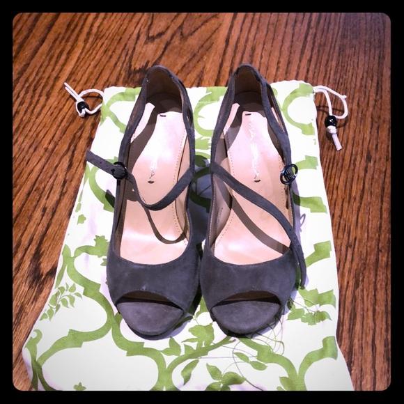 """Via Spiga Shoes - Gray Via Spiga 4"""" heels, Size 4.5"""